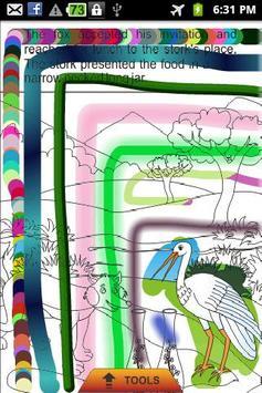 The Fox and Stork - Kids Story apk screenshot