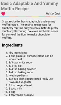 Strawberry Muffin Recipes apk screenshot