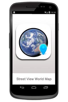 Street View World Map poster