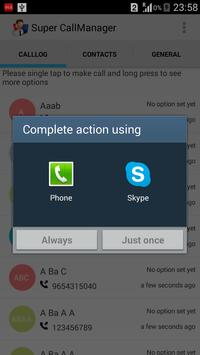 Super CallManager apk screenshot