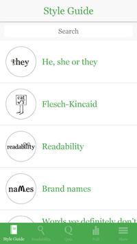 The Writer's style guide apk screenshot