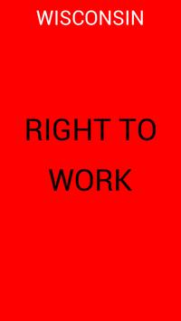 Wisconsin Right To Work Bill poster