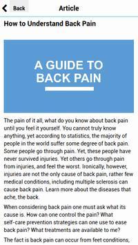 A Guide to Back Pain apk screenshot