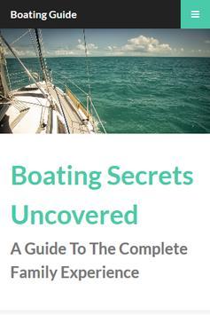 Boating Secrets Guide poster