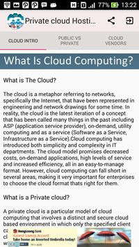 Private Cloud Hosting poster