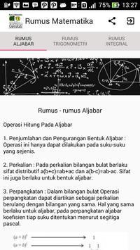 Rumus-rumus Matematika poster
