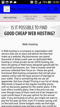 Web Hosting Guide poster