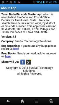 Tamil Nadu Pin Code Master apk screenshot