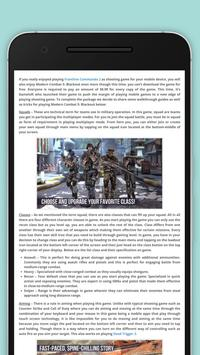 Guides for Modern Combat 5 Tip poster