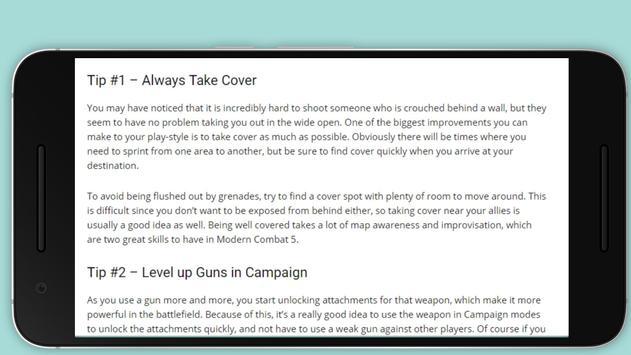 Guides for Modern Combat 5 Tip apk screenshot