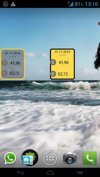 Currency Widget apk screenshot