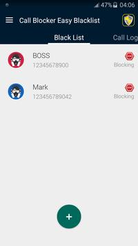 Call Blocker Easy Blacklist apk screenshot