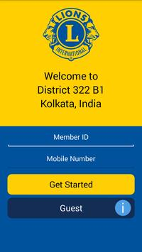 Lions Clubs Int District 322B1 poster