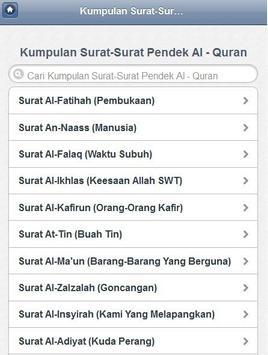 Kumpulan Surat Pendek Al Quran apk screenshot