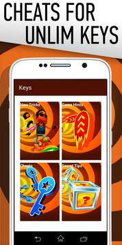 Cheat: Keys for Subway Surfers poster