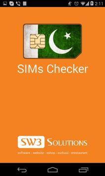 SIMs Checker poster