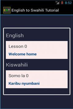 English Swahili Tutorial poster