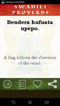 Swahili Proverb apk screenshot