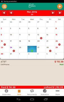 Bills Monitor Free apk screenshot