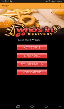 Who's In Delivery apk screenshot
