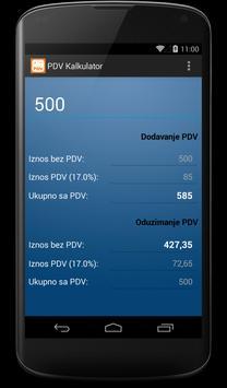 PDV Kalkulator poster