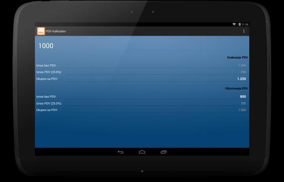 PDV Kalkulator apk screenshot