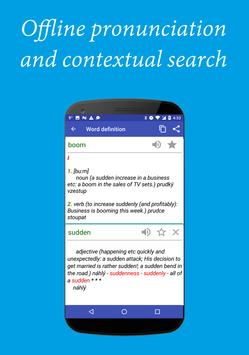 English-Czech Dictionary Free apk screenshot