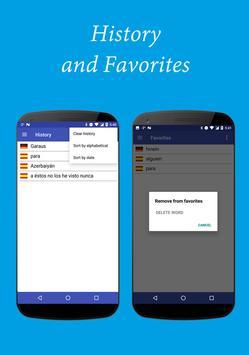 Spanish-German Dictionary Free apk screenshot