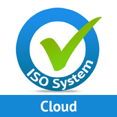 ISO audit manager on cloud icon