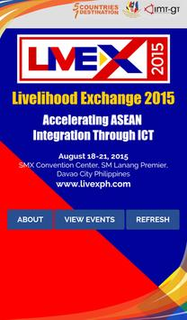 LiveX 2015 poster