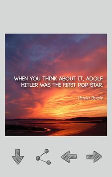 David Bowie Quotes apk screenshot