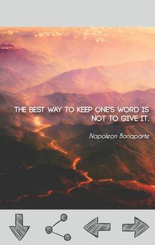 Napoleon Bonaparte Quotes poster