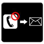 Automatic SMS on missed Call icon