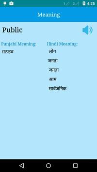 English to Punjabi and Hindi apk screenshot