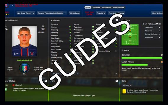 Football Manager 2016 Guides apk screenshot