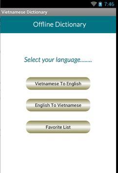 Vietnamese English Dictionary poster