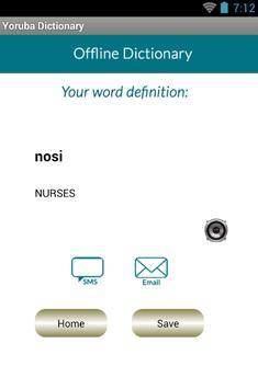 Yoruba English Dictionary apk screenshot