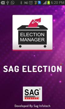 SAG Election Manager poster
