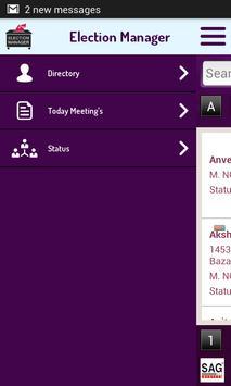 SAG Election Manager apk screenshot