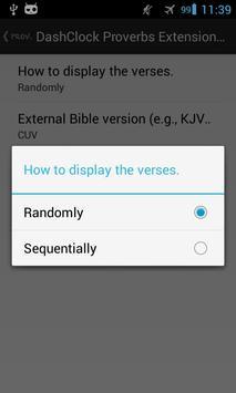 DashClock Bible Proverbs apk screenshot