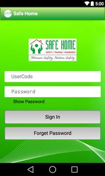 SAFE HOME apk screenshot