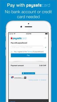 Mobile TopUp EUR - paysafecard apk screenshot