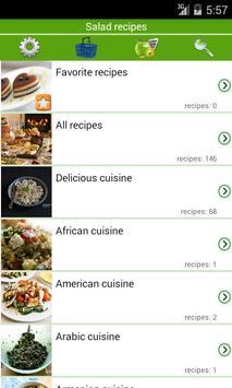 Salad recipes poster