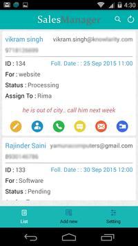 Sales Manager apk screenshot