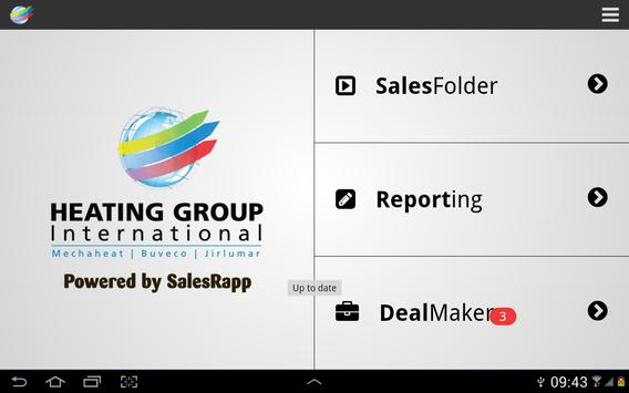 Heating Group SalesRapp poster