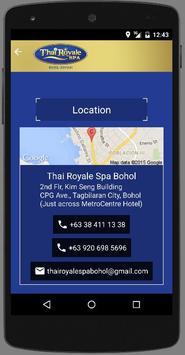 Thai Royale Spa Bohol apk screenshot