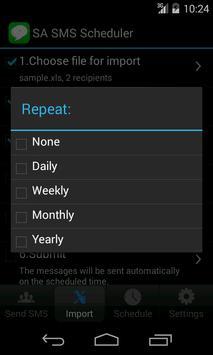 SA SMS Scheduler Lite apk screenshot