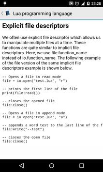 Lua tutorial apk screenshot
