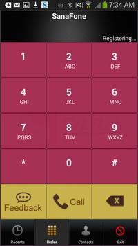 Sanafone Platinum Dialer apk screenshot