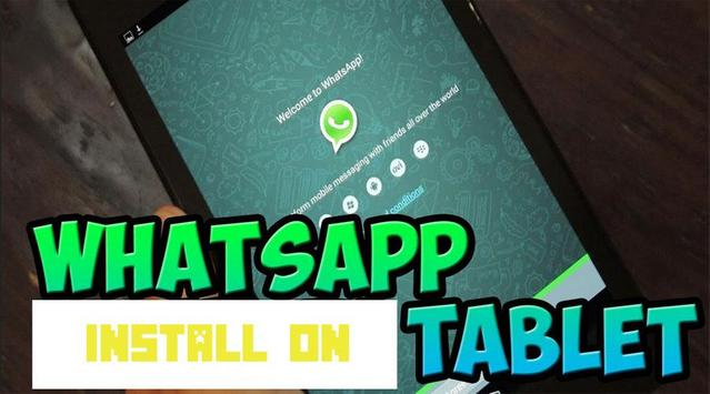 Install Tablet for WhatsApp poster